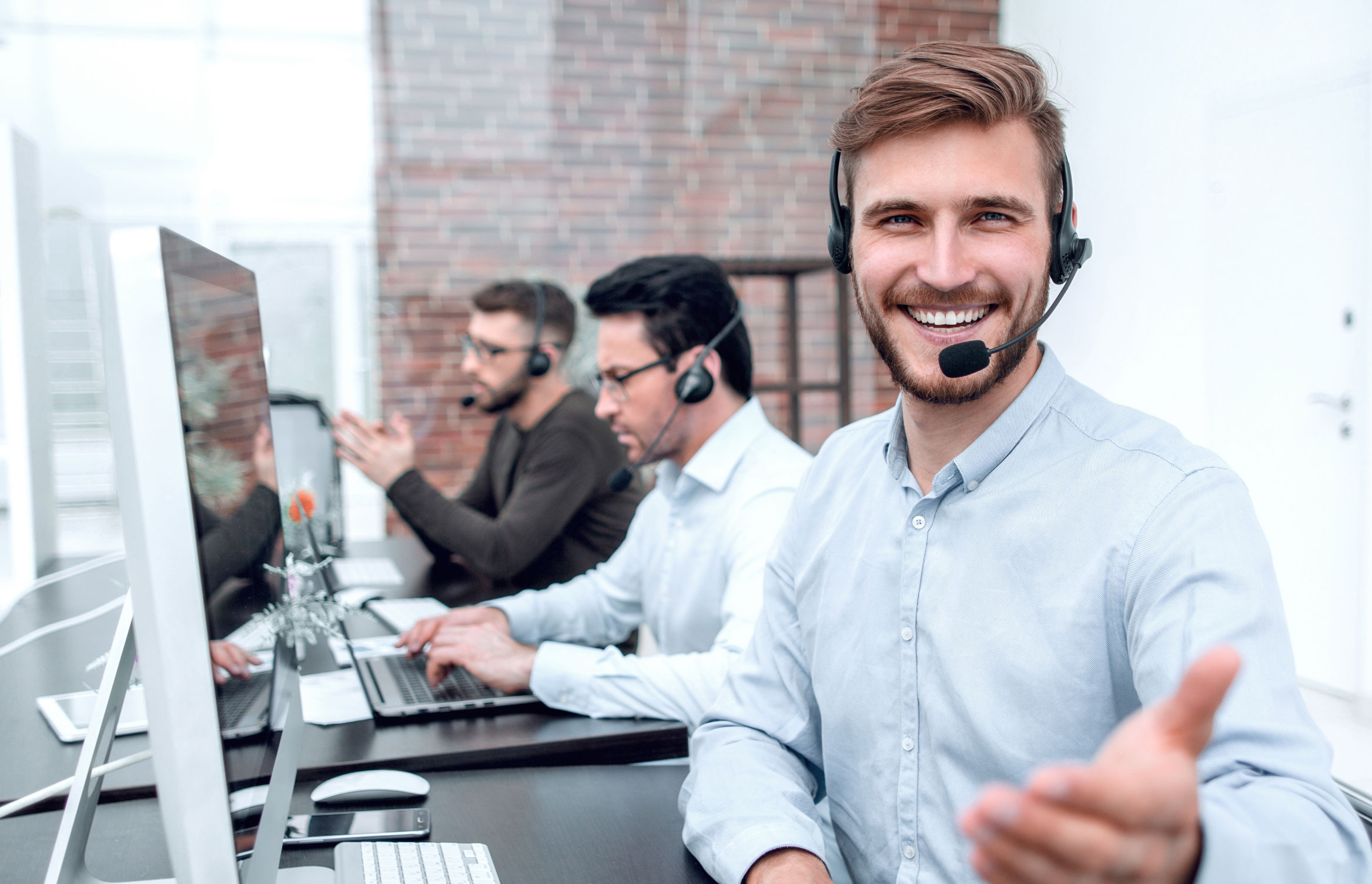 Contact center by Zisson smiling man